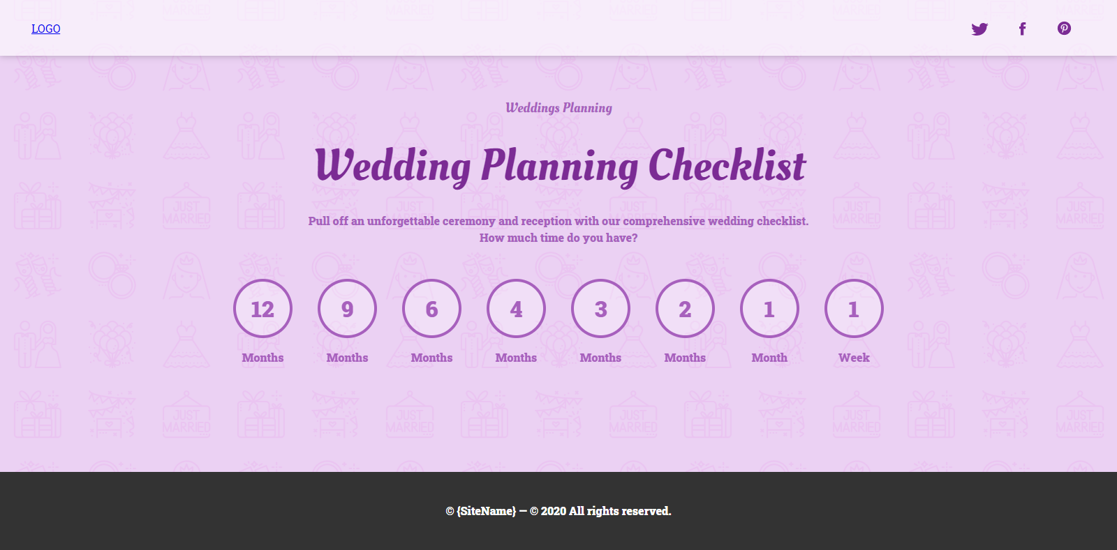 Wedding Checklist Preview